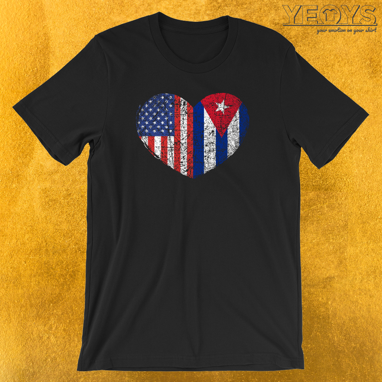 USA Cuba Heart T-Shirt