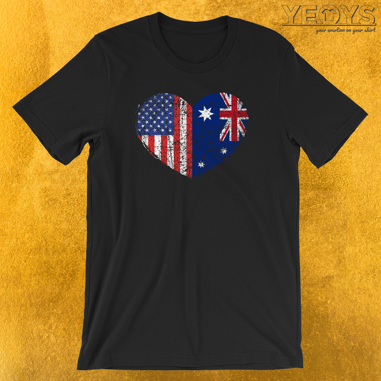USA Australia Heart T-Shirt