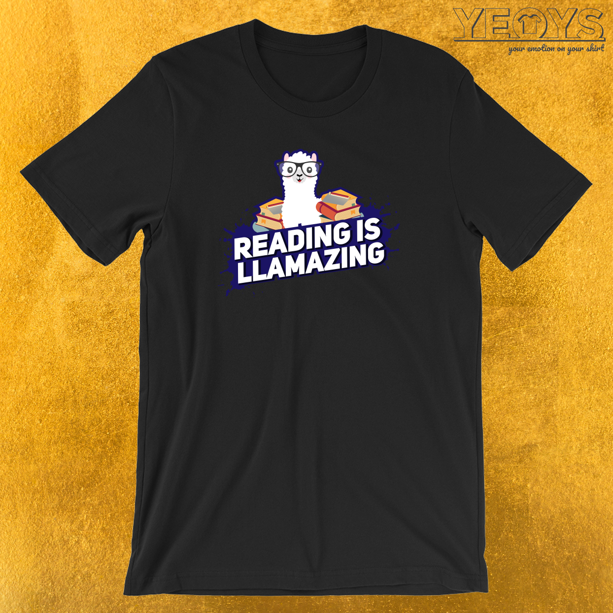 Reading Is Llamazing Llama In Glasses T-Shirt