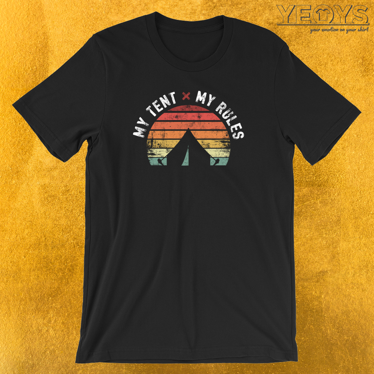 My Tent My Rules Retro Vintage T-Shirt