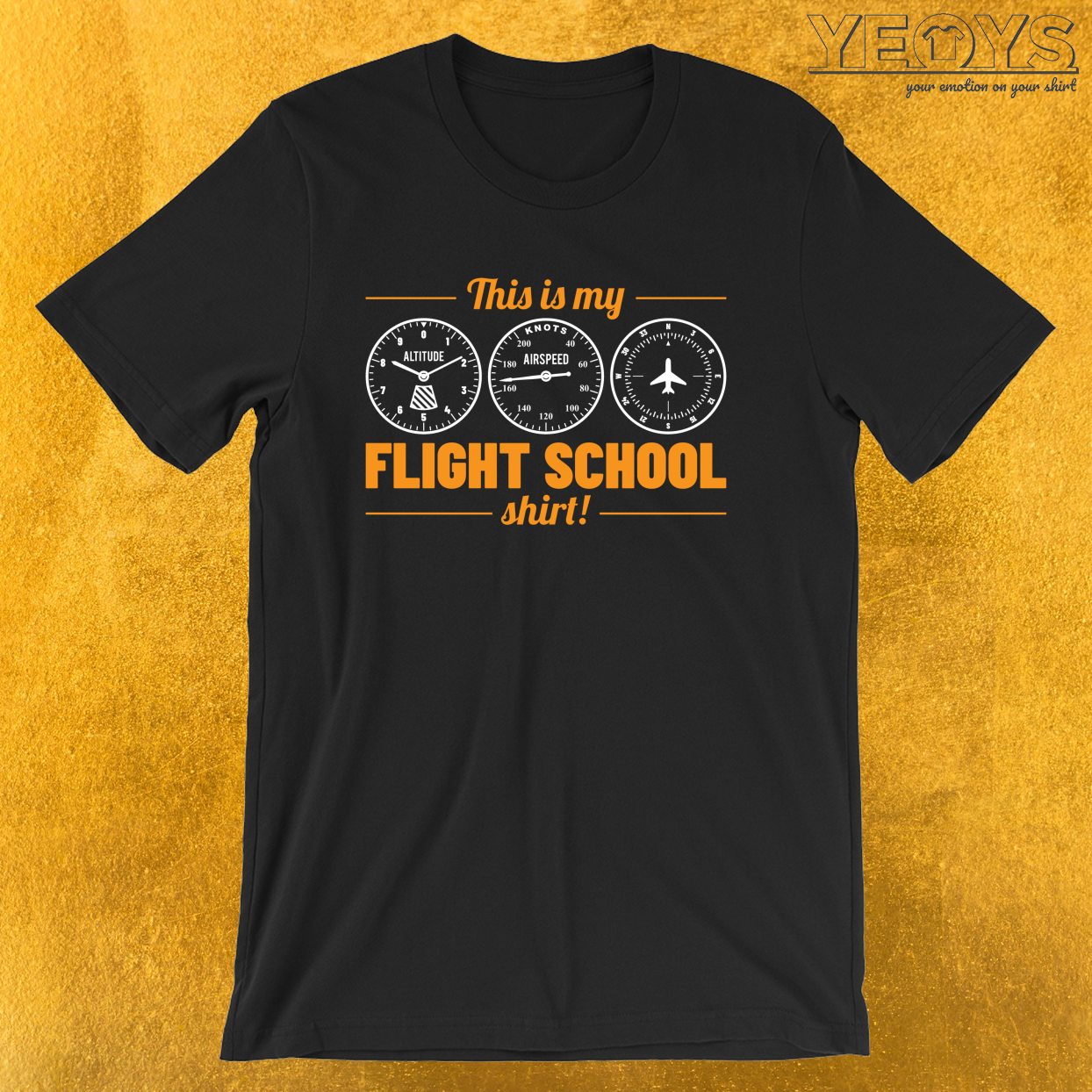 This Is My Flight School Shirt – Funny Aviation Quotes Tee