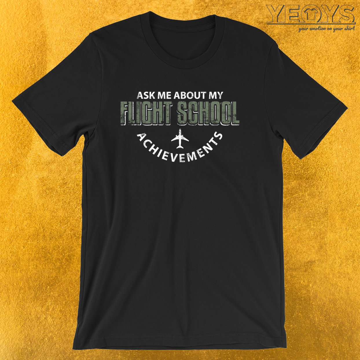 Ask Me About My Flight School Achievements – Funny Aviation Quotes Tee