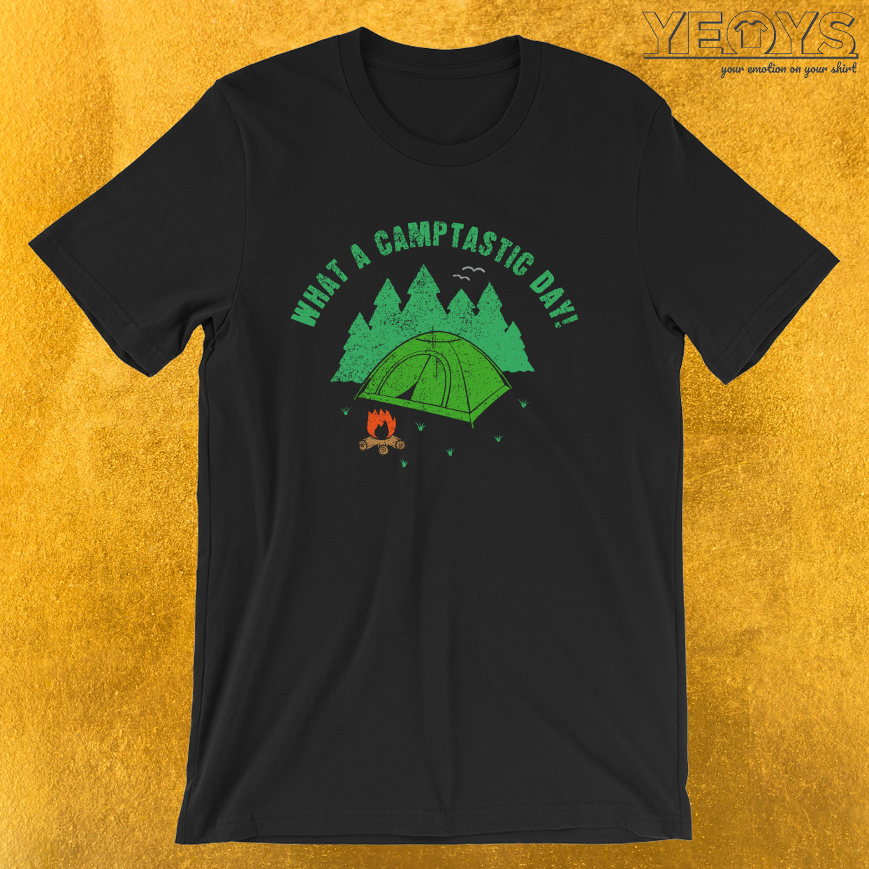 What A Camptastic Day – Funny Camping Quotes Tee