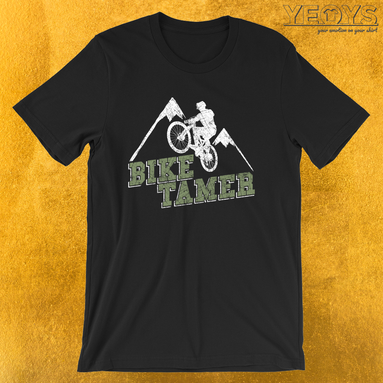 Bike Tamer MTB – Funny Bike Quote Tee