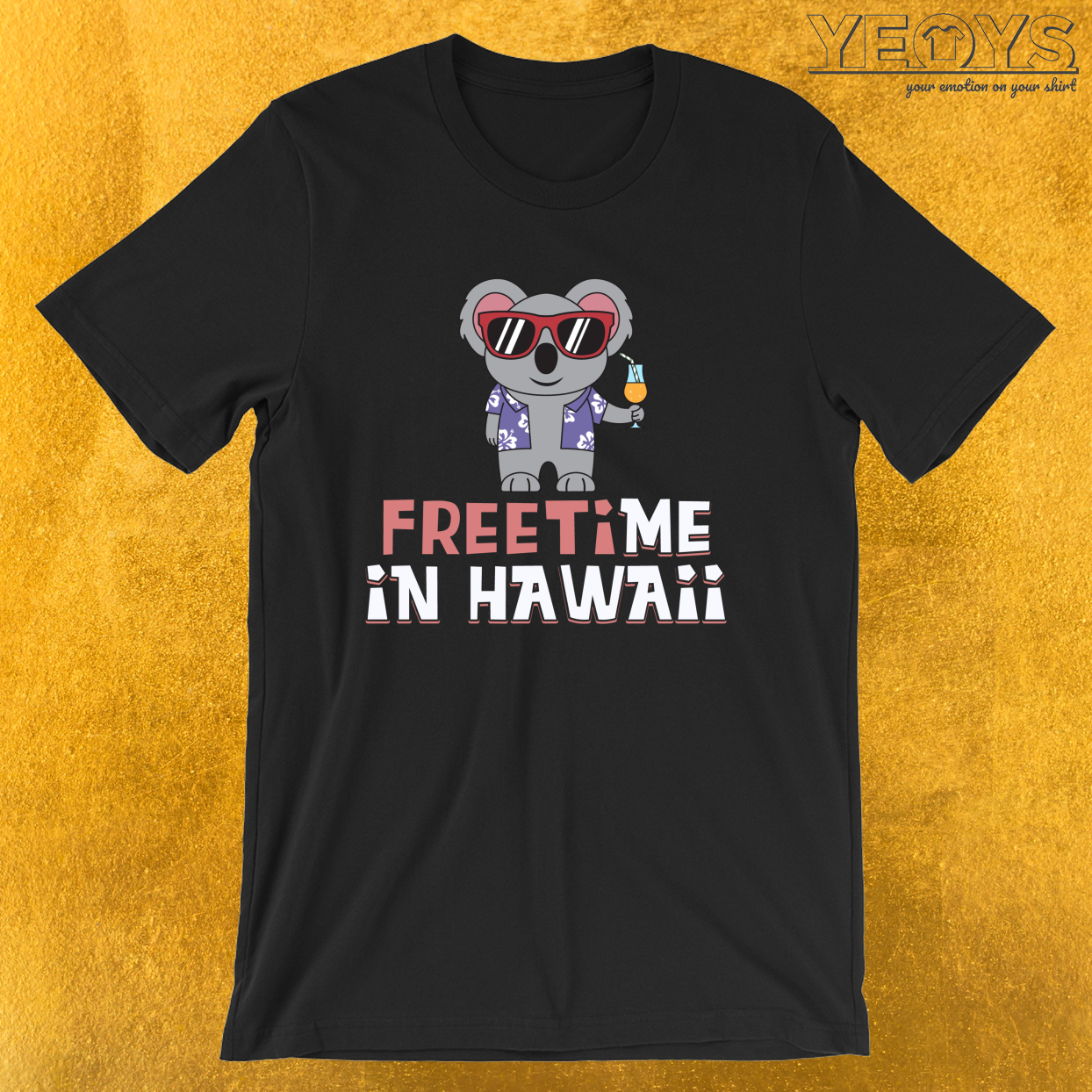 Freetime In Hawaii – Travel Puns Tee