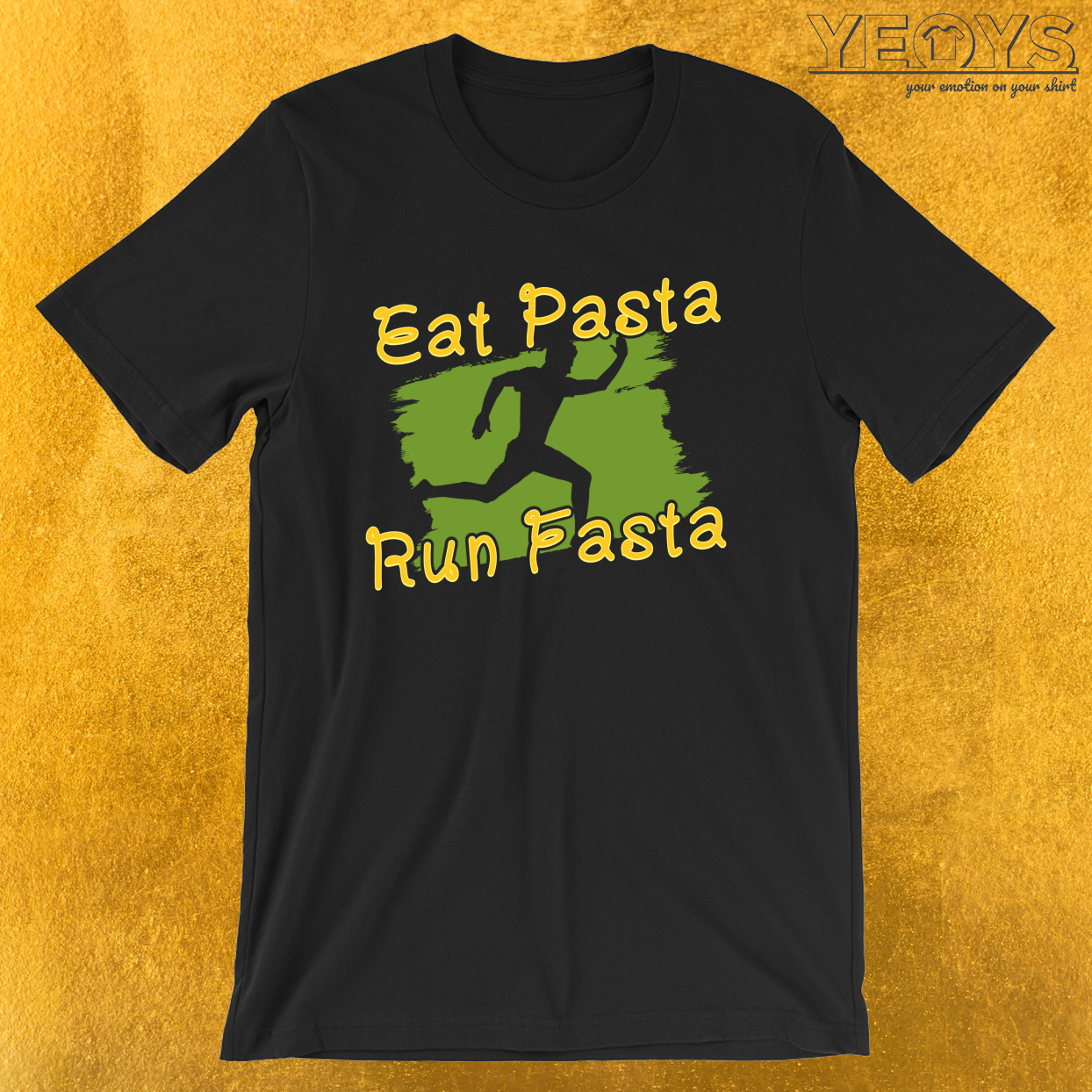 Eat Pasta Run Fasta – I Love Italian Pasta Tee
