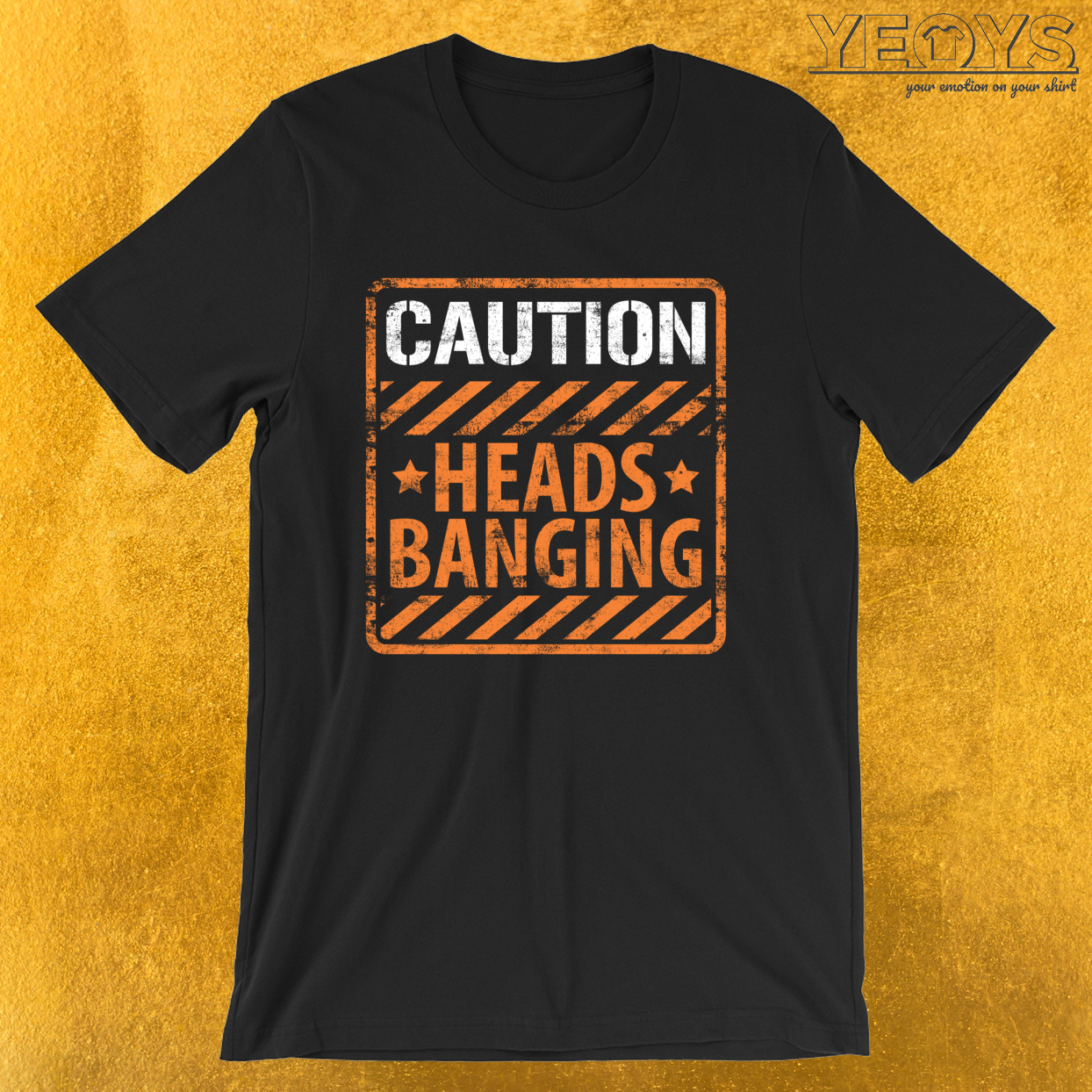 Caution Heads Banging Dubstep – Dubstep Quotes Tee