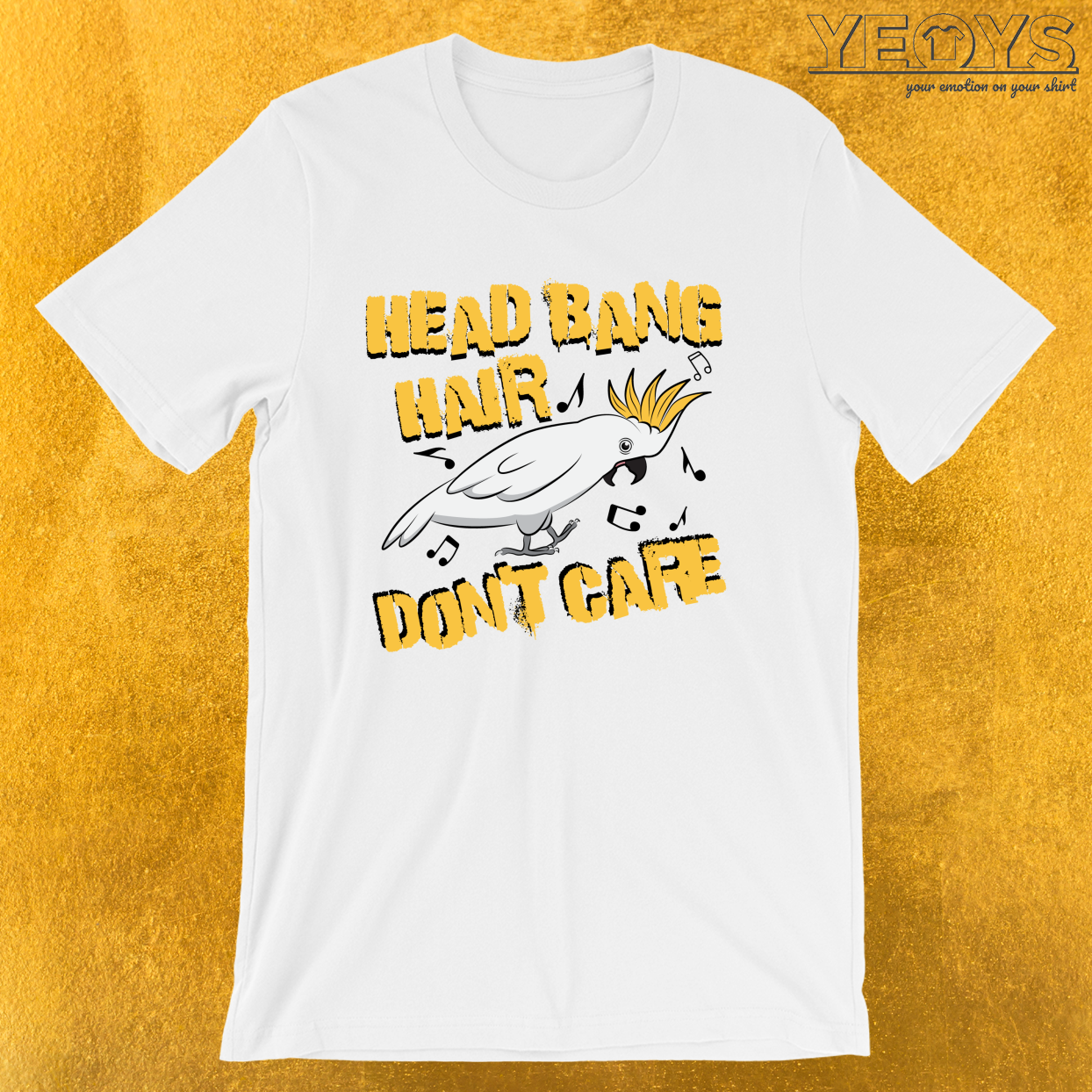 Head Bang Hair Don't Care – Dubstep Quotes Tee