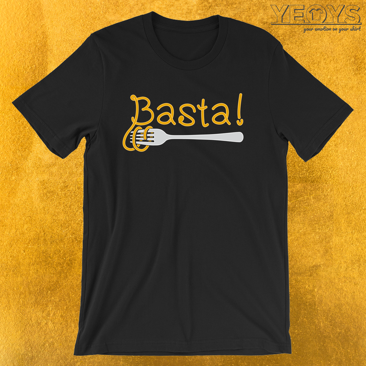 Basta – Funny I Love Italian Pasta Tee