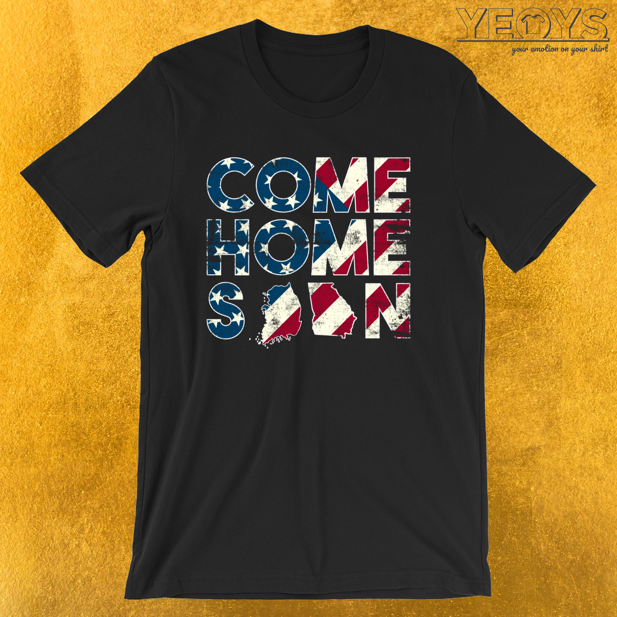 Come Home Soon South Korea Georgia – Military And Veterans Tee