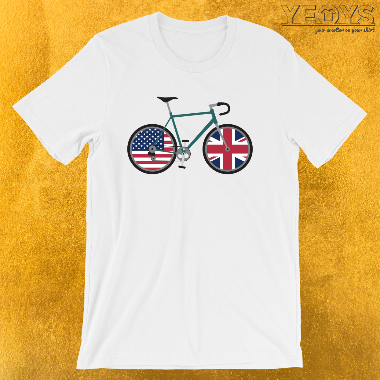 Dual Citizen Cycling USA United Kingdom – Dual Citizenship & Biking Tee