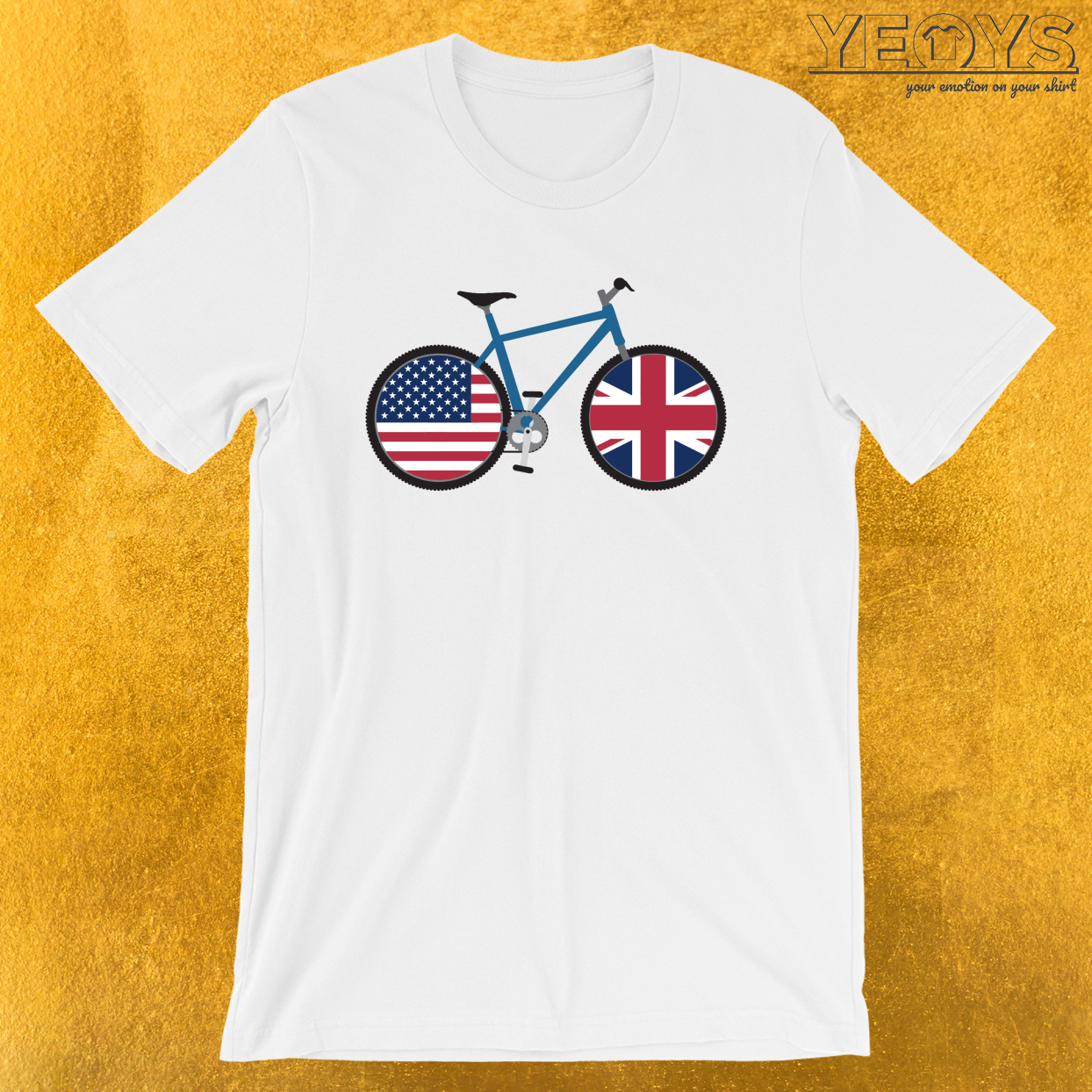 Dual Citizen Mountainbiking USA United Kingdom – Dual Citizenship & Biking Tee