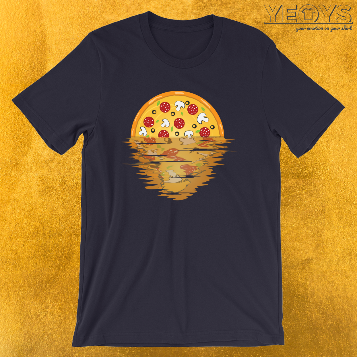 Pizza Sunset Over Sea – Pizza Party Tee