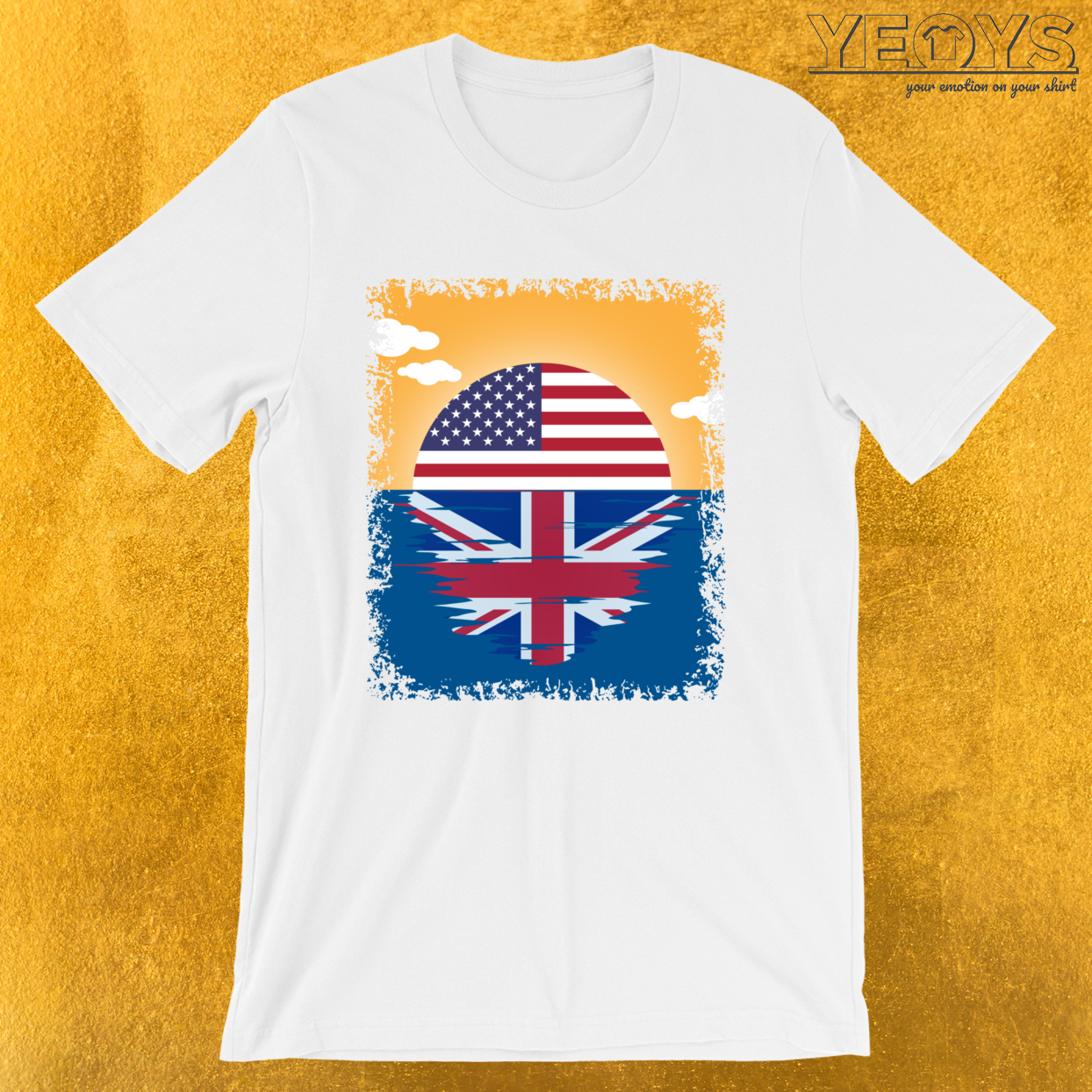 Dual Citizen USA United Kingdom Sunrise – Immigration Tee