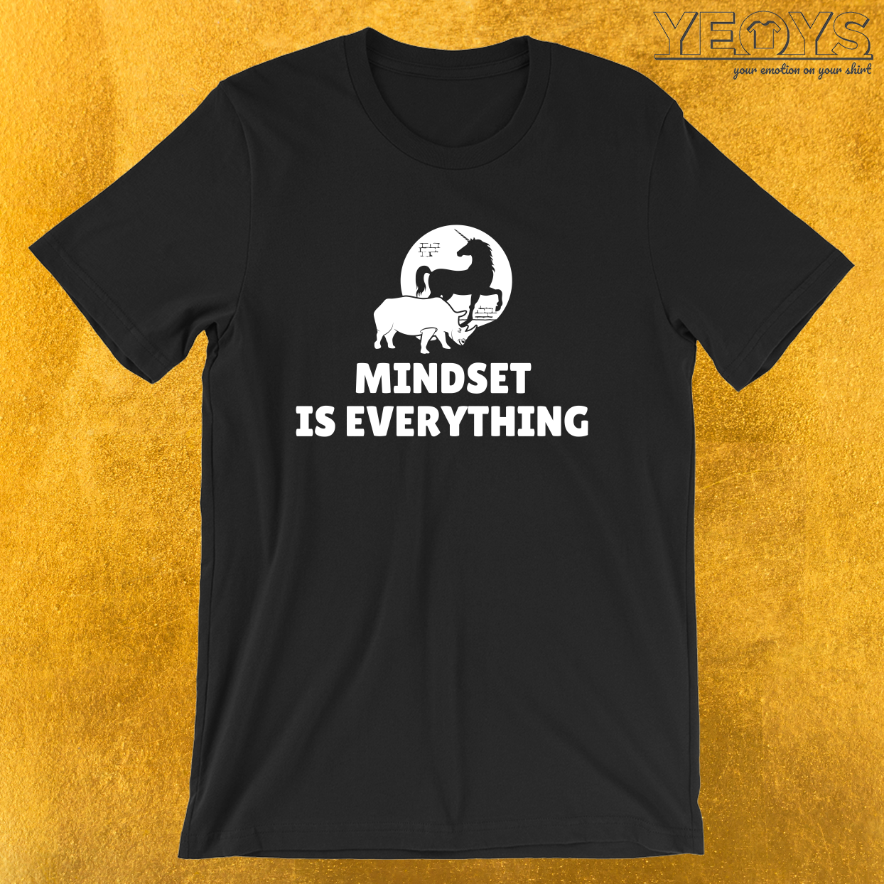 Mindset Is Everything Rhino Unicorn – Vision & Attitude Tee