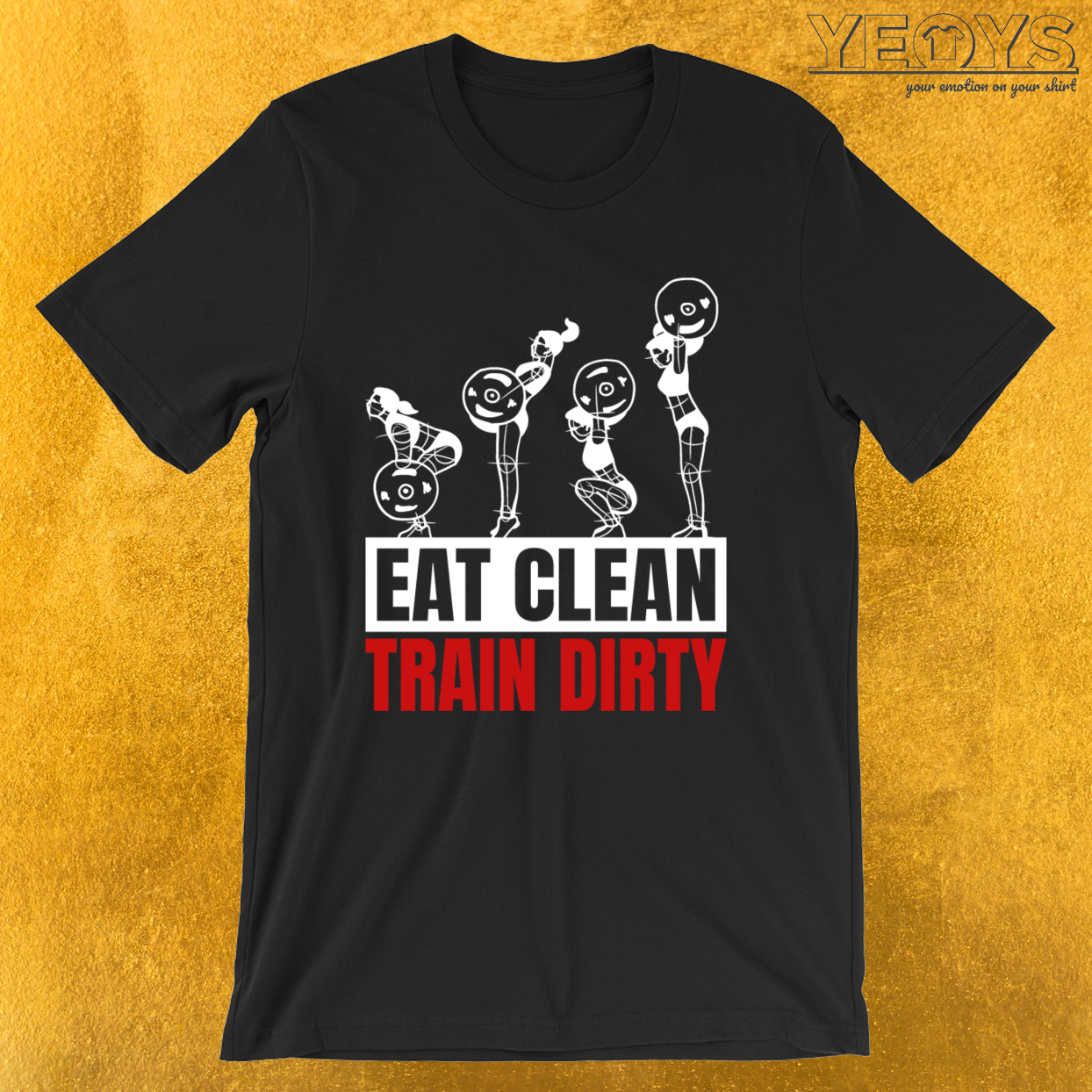 Eat Clean Train Dirty – Vegan Bodybuilding Tee