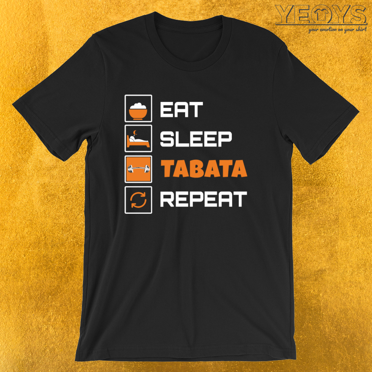 Eat Sleep Tabata Repeat – Tabata Tee