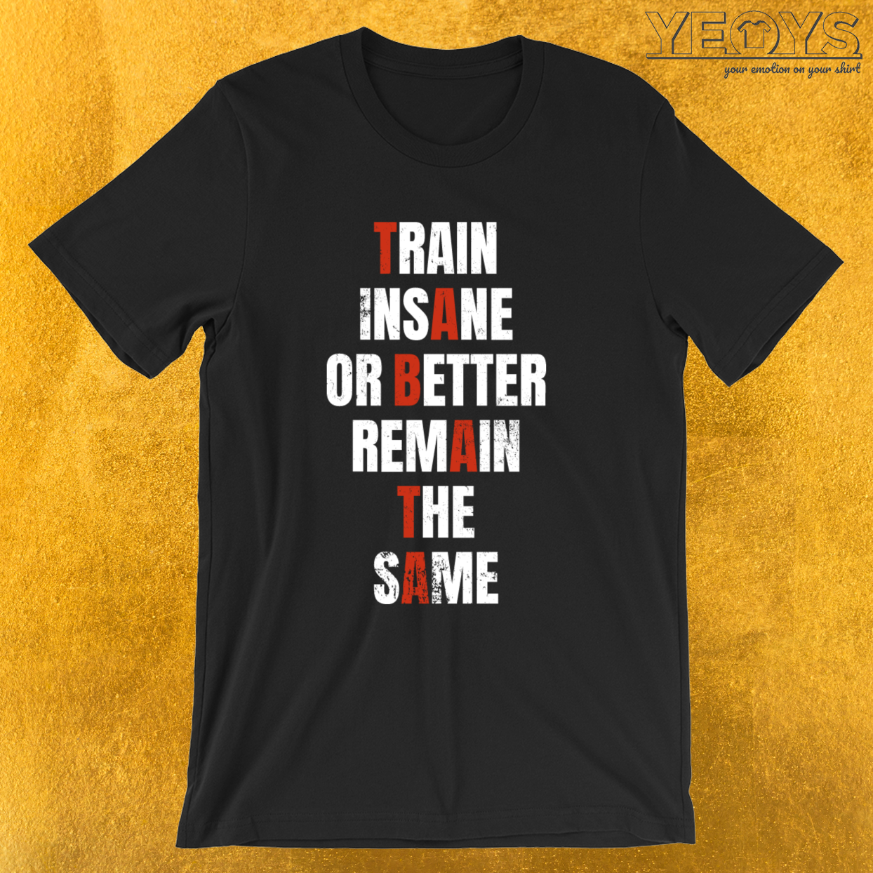 Train Insane Or Better Remain The Same – Tabata Tee