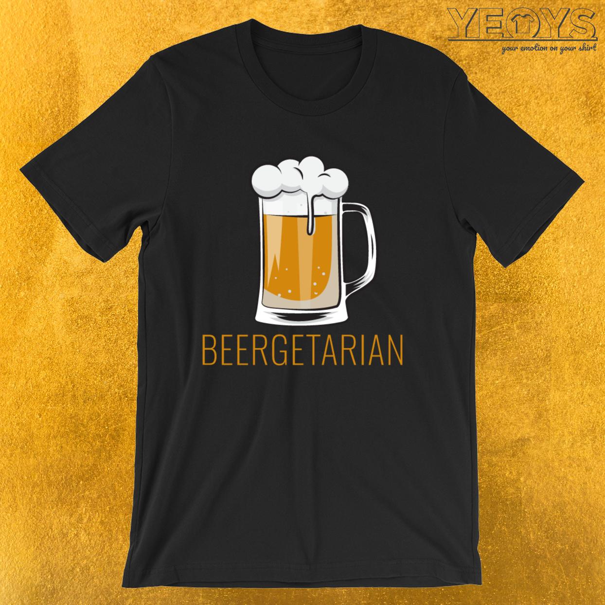 Funny Beer Pun – Beergetarian Tee
