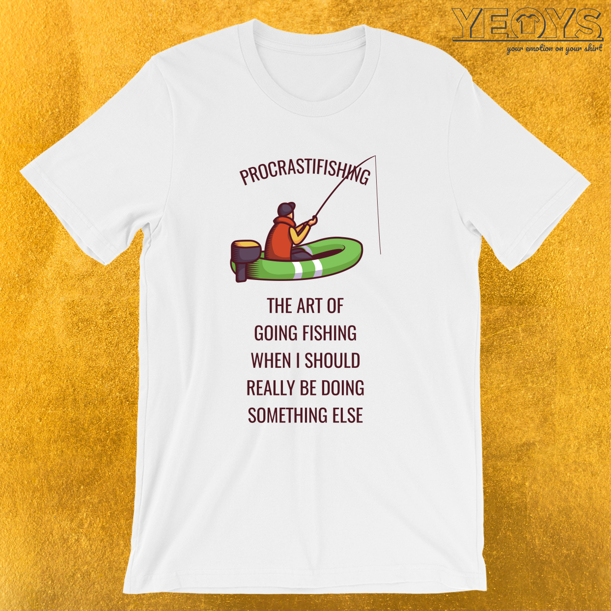 Procrastifishing – The Art Of Fishing – Funny Fishing Tee