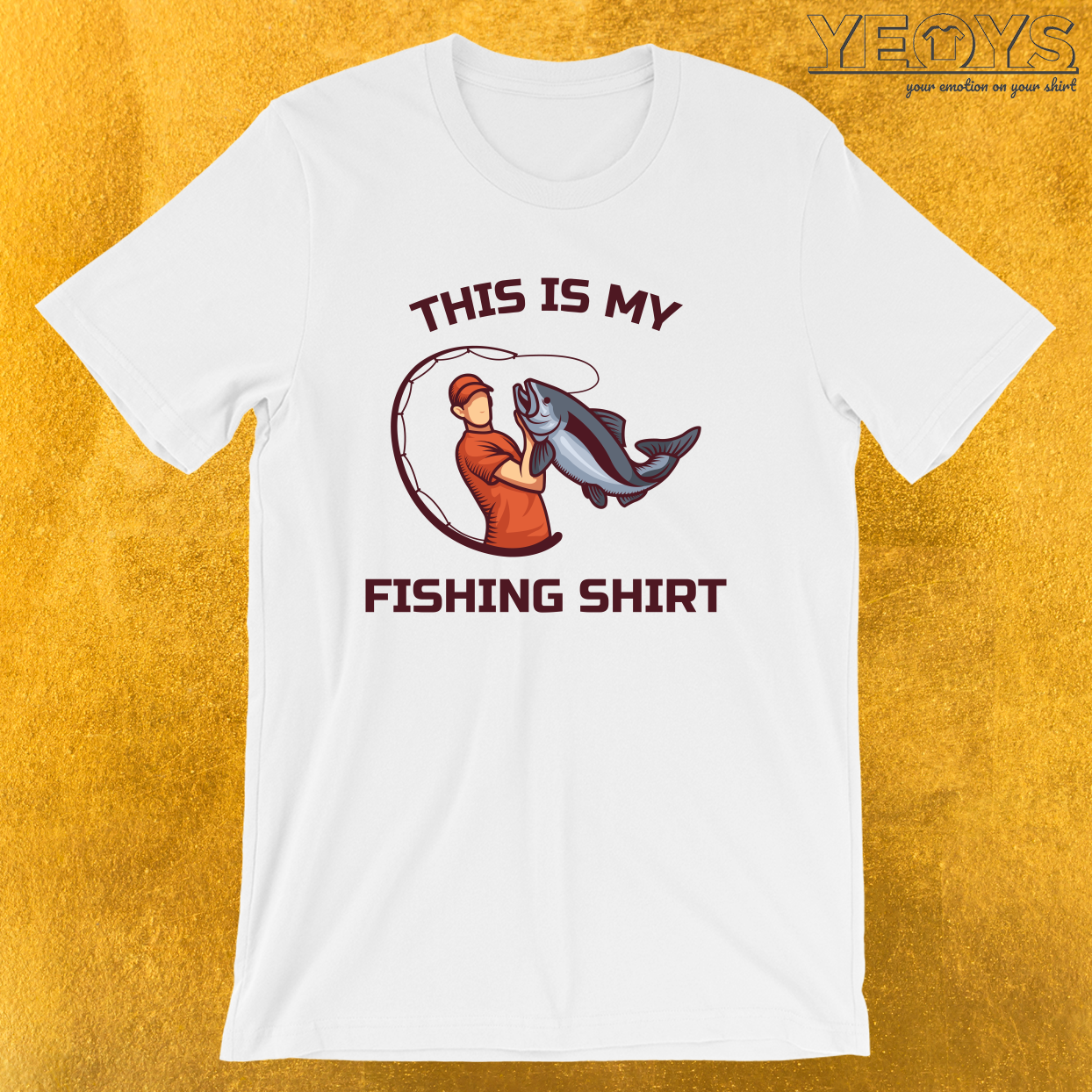 This Is My Fishing Shirt – River & Lake Fishing Tee