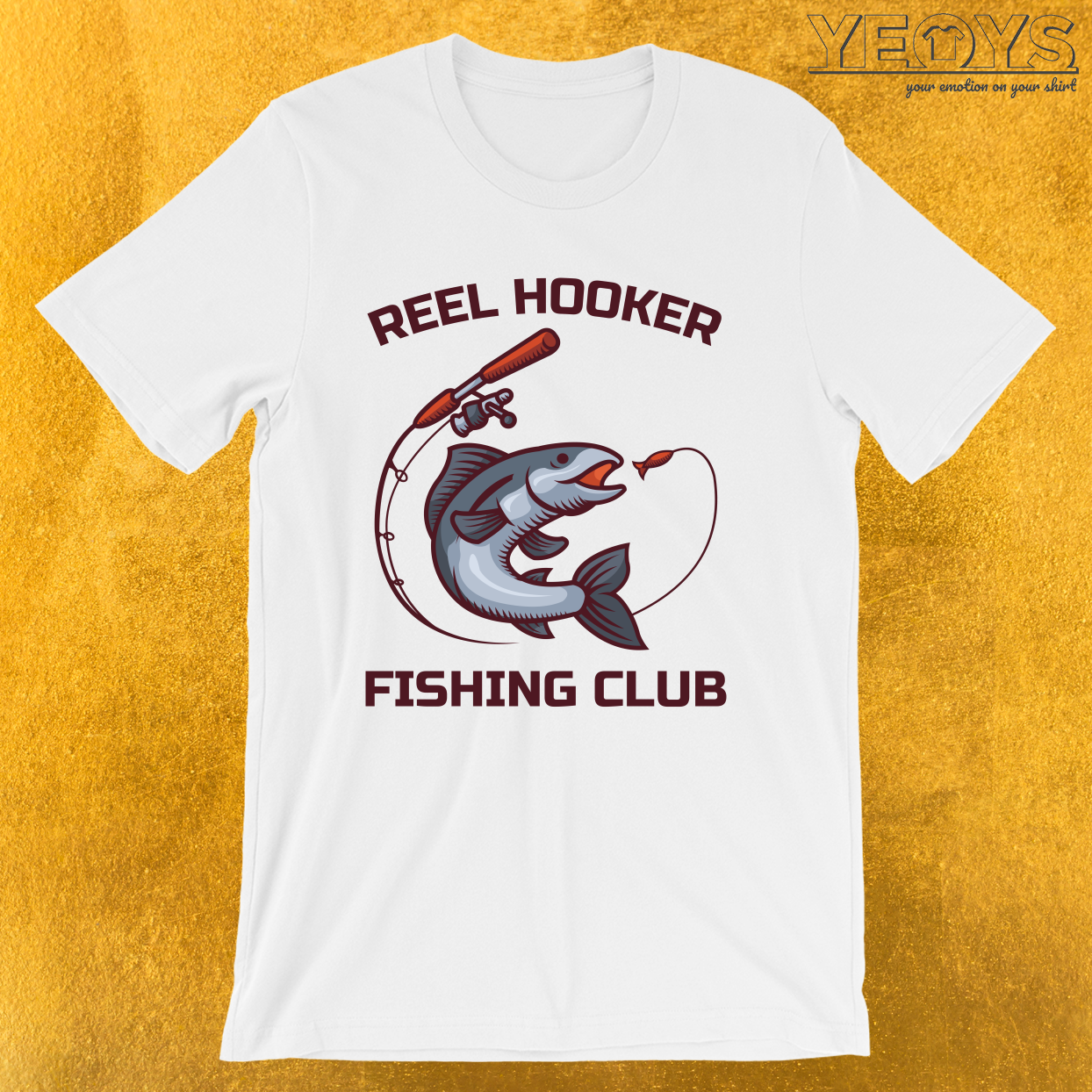 Reel Hooker Fishing Club – Funny Fishing Trip Tee