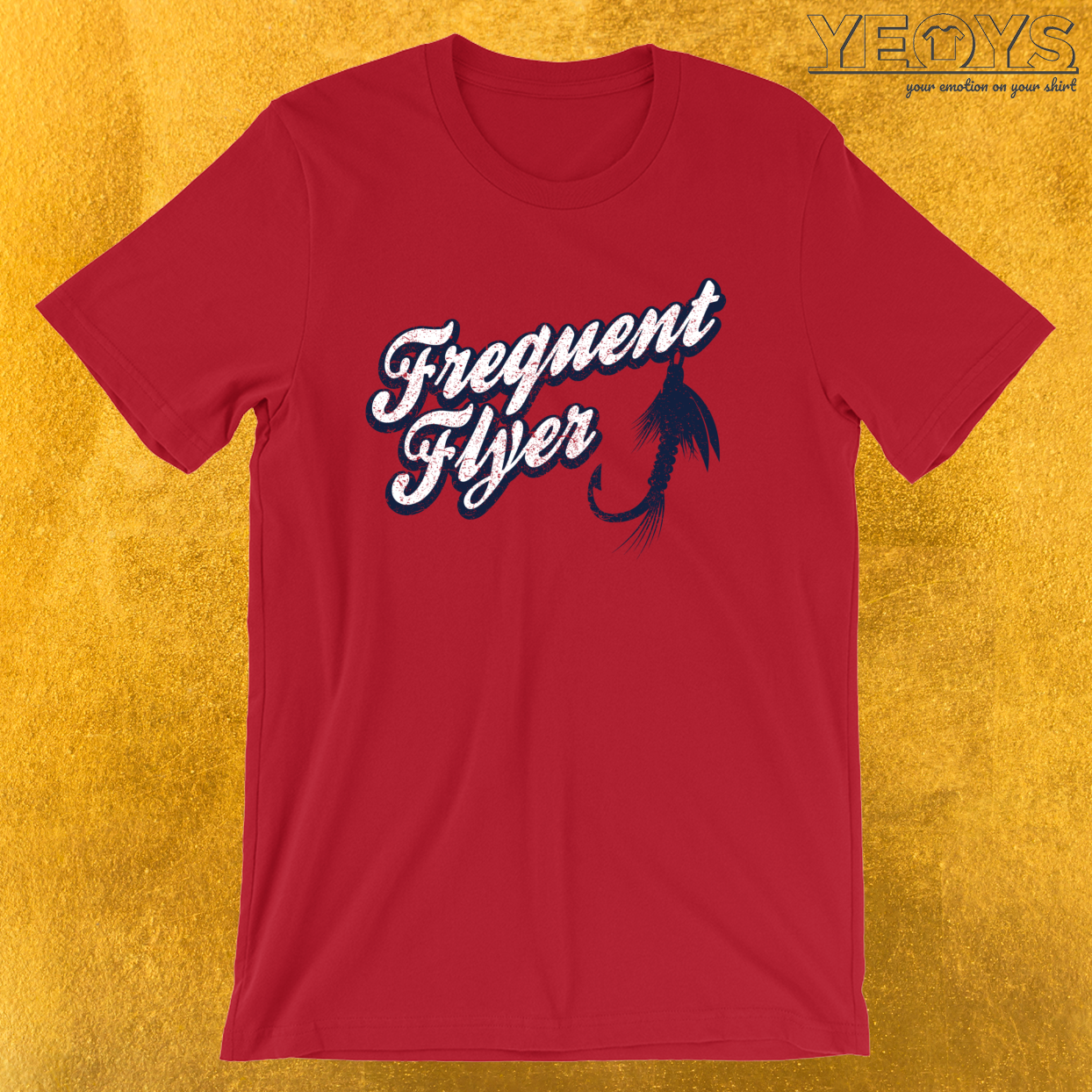Frequent Flyer – Funny Fly Fishing Tee