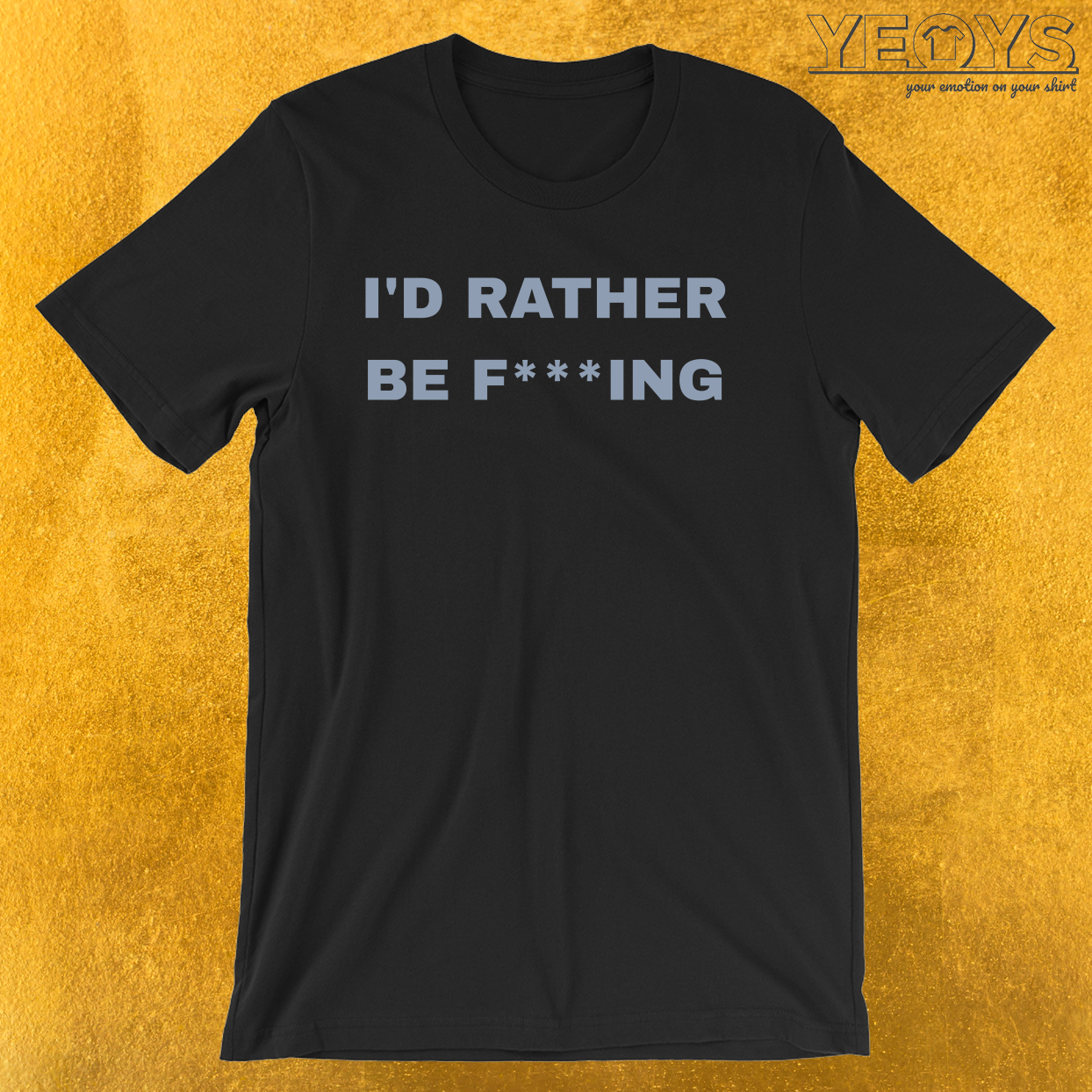 Funny Fishing Pun – I'd Rather Be Fishing Tee