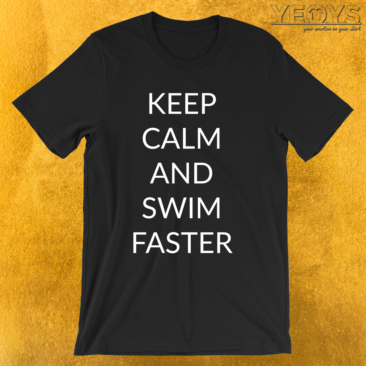 Keep Calm And Swim Faster – Funny Shark Tee
