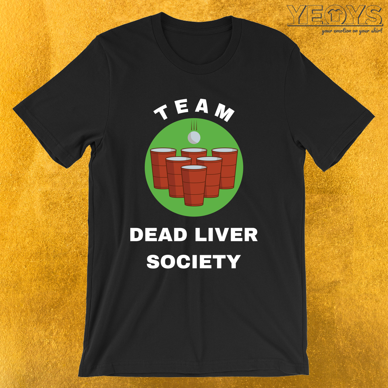 Team Dead Liver Society – USA Beer Pong Team Tee