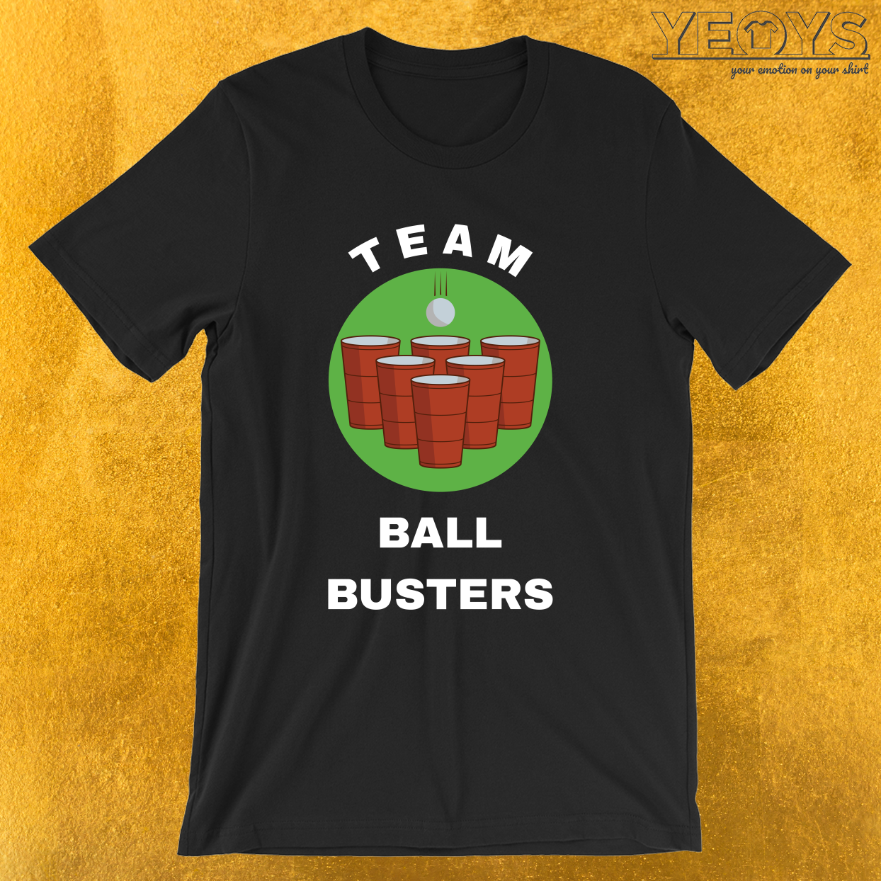 USA Beer Pong Team – Team Ball Busters Tee