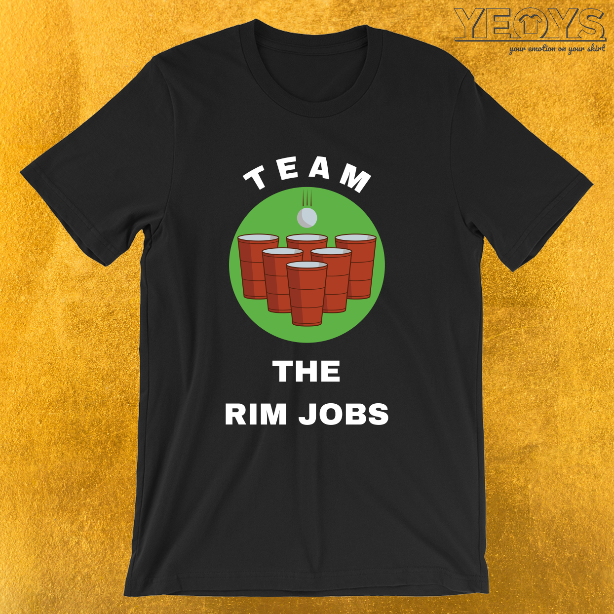 Team The Rim Jobs – USA Beer Pong Team Tee
