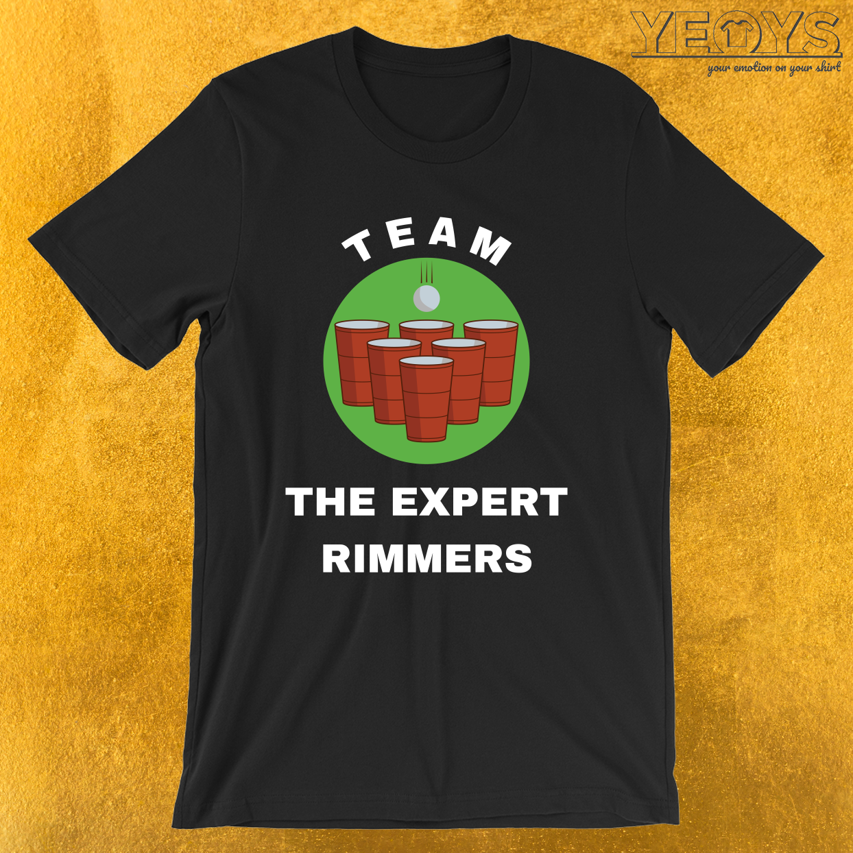 Team The Expert Rimmers – USA Beer Pong Team Tee