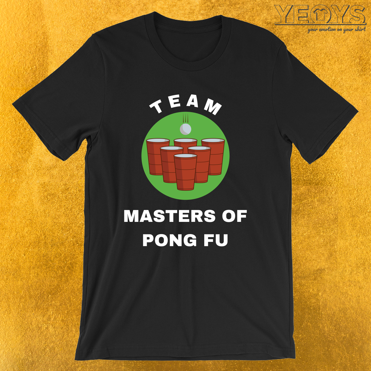 Team Masters Of Pong Fu – USA Beer Pong Team Tee
