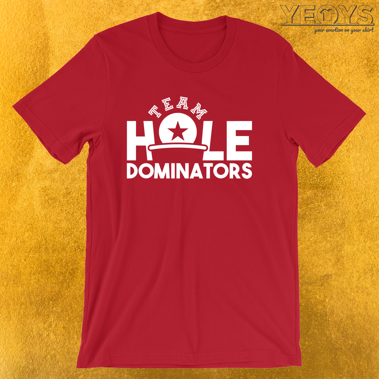 Team Hole Dominators – USA Beer Pong Team Tee