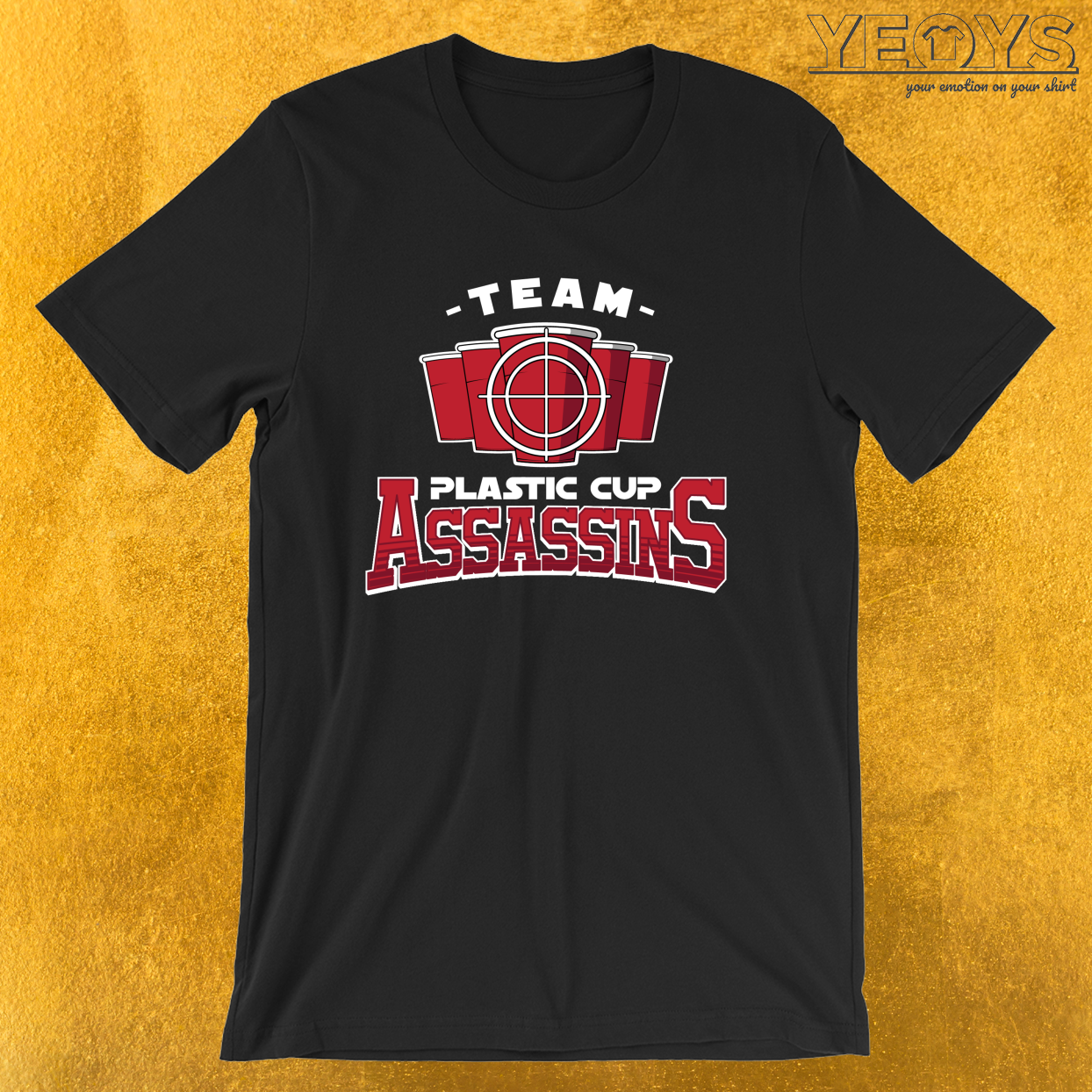 Team Plastic Cup Assassins – USA Beer Pong Team Tee