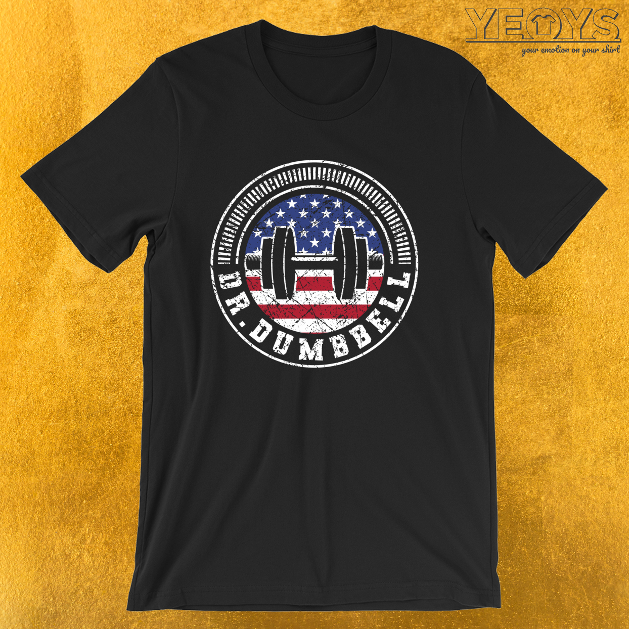 Dr. Dumbbell – Usa Weightlifting Tee