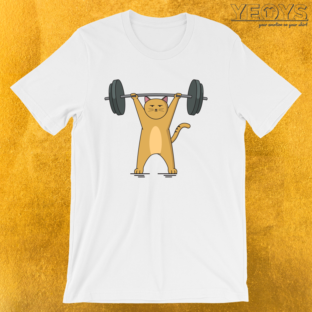 Weightlifting – Cat Barbell Tee