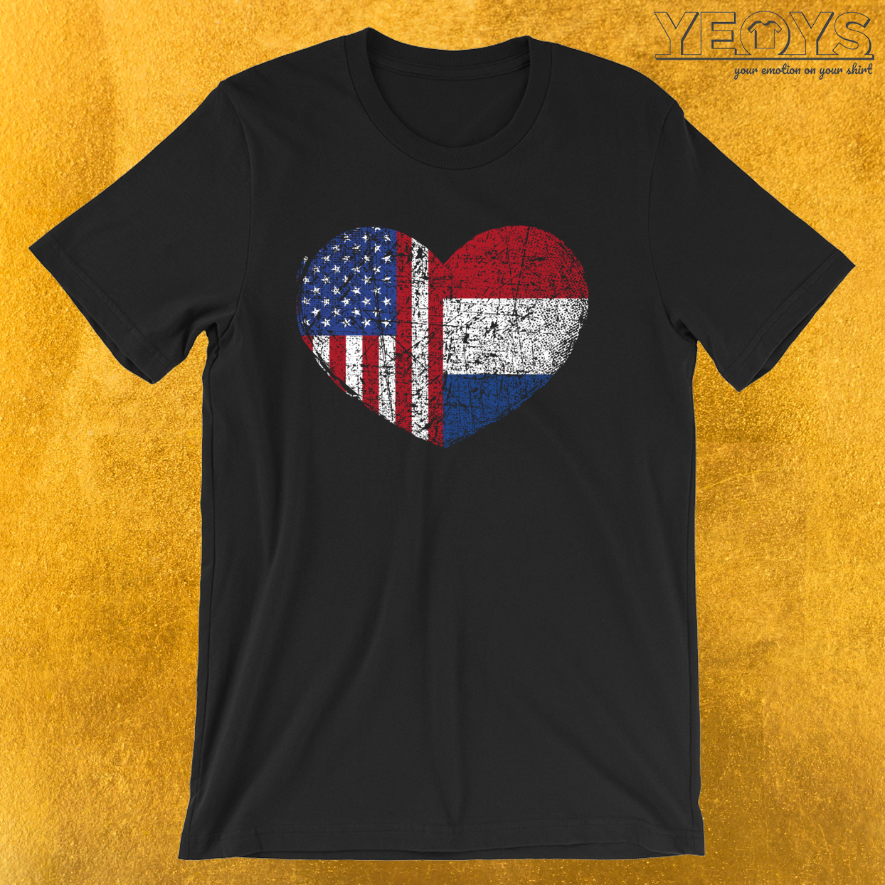 USA Netherlands Heart – Dual Citizenship Tee