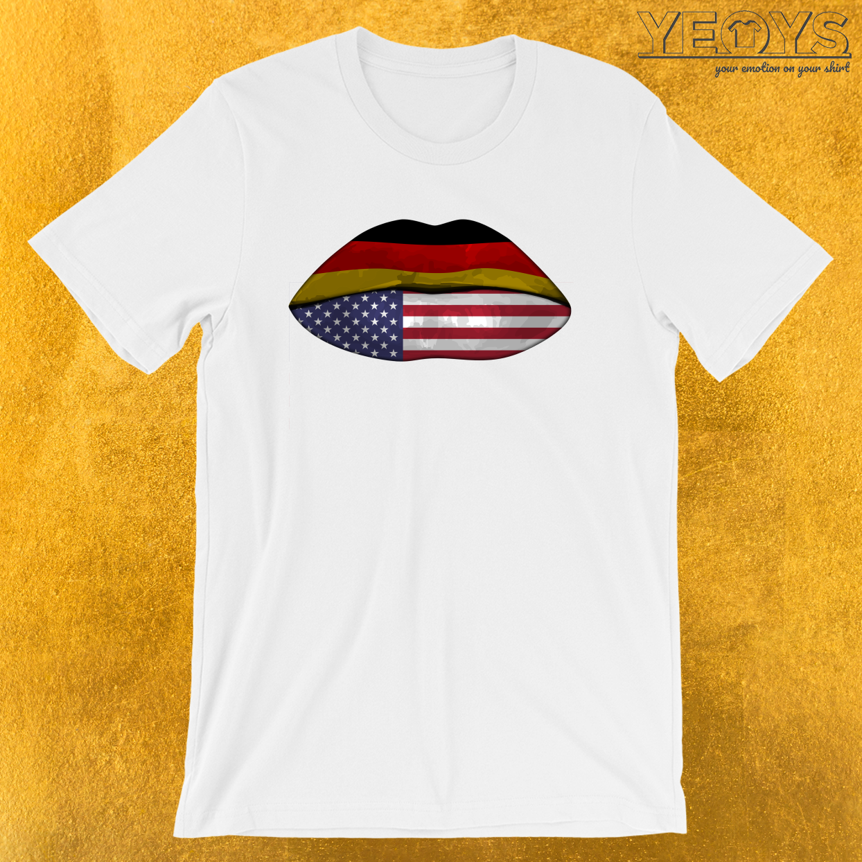 Germany USA Flag Lips – Dual Citizenship Tee
