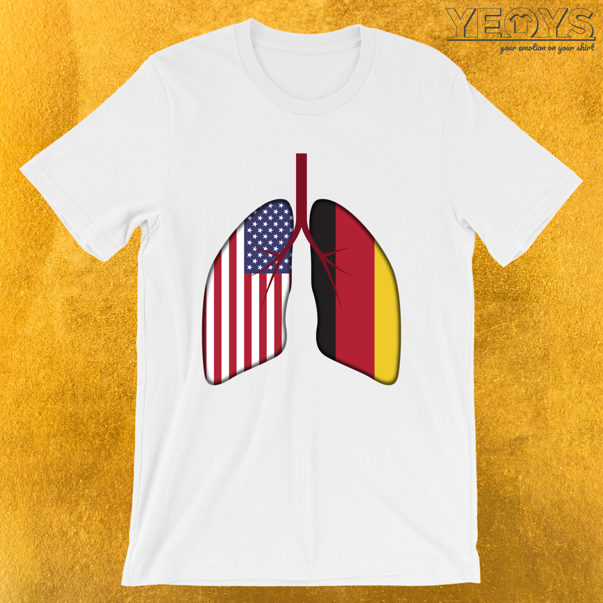 Germany USA Flag Lungs – Dual Citizenship Tee