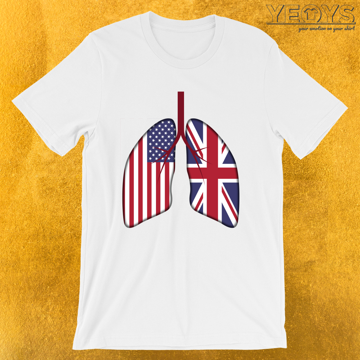 UK Usa Lungs – Dual Citizenship Tee