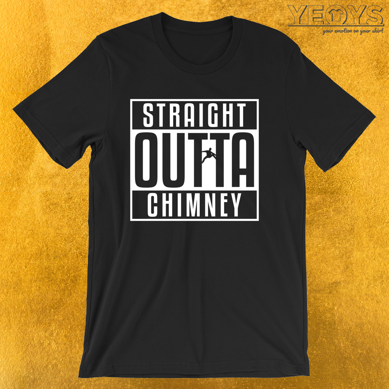 Straight Outta Chimney – Rock Climbing Tee