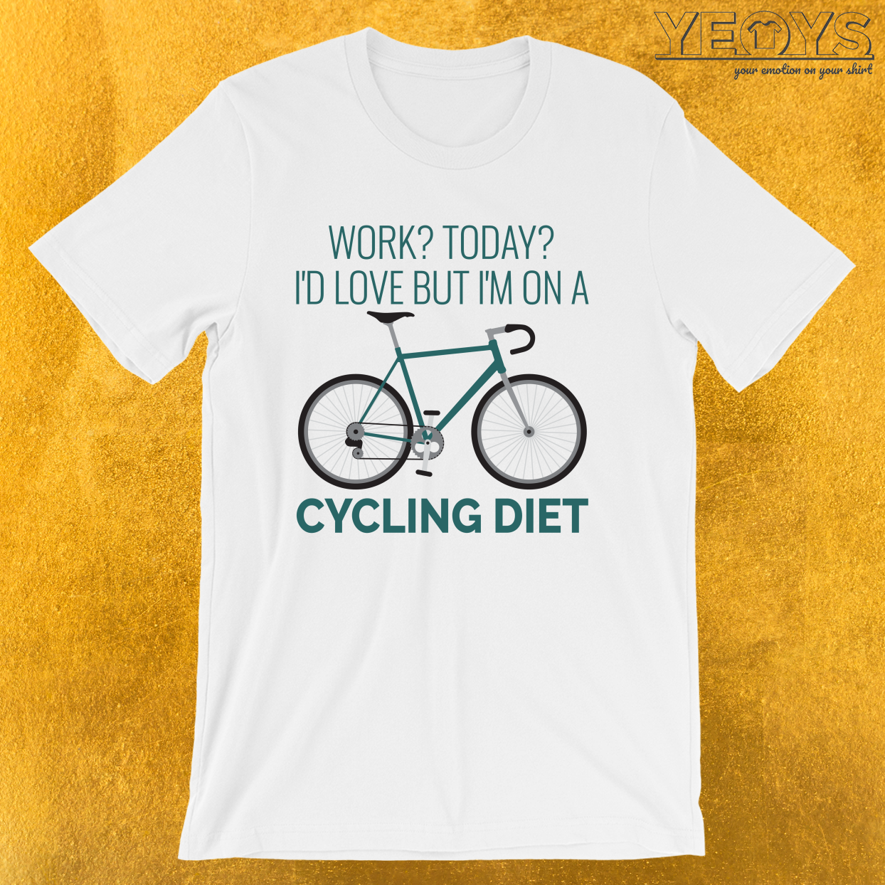 Work I'd Love But I'm On A Cycling Diet – Racing bike Tee