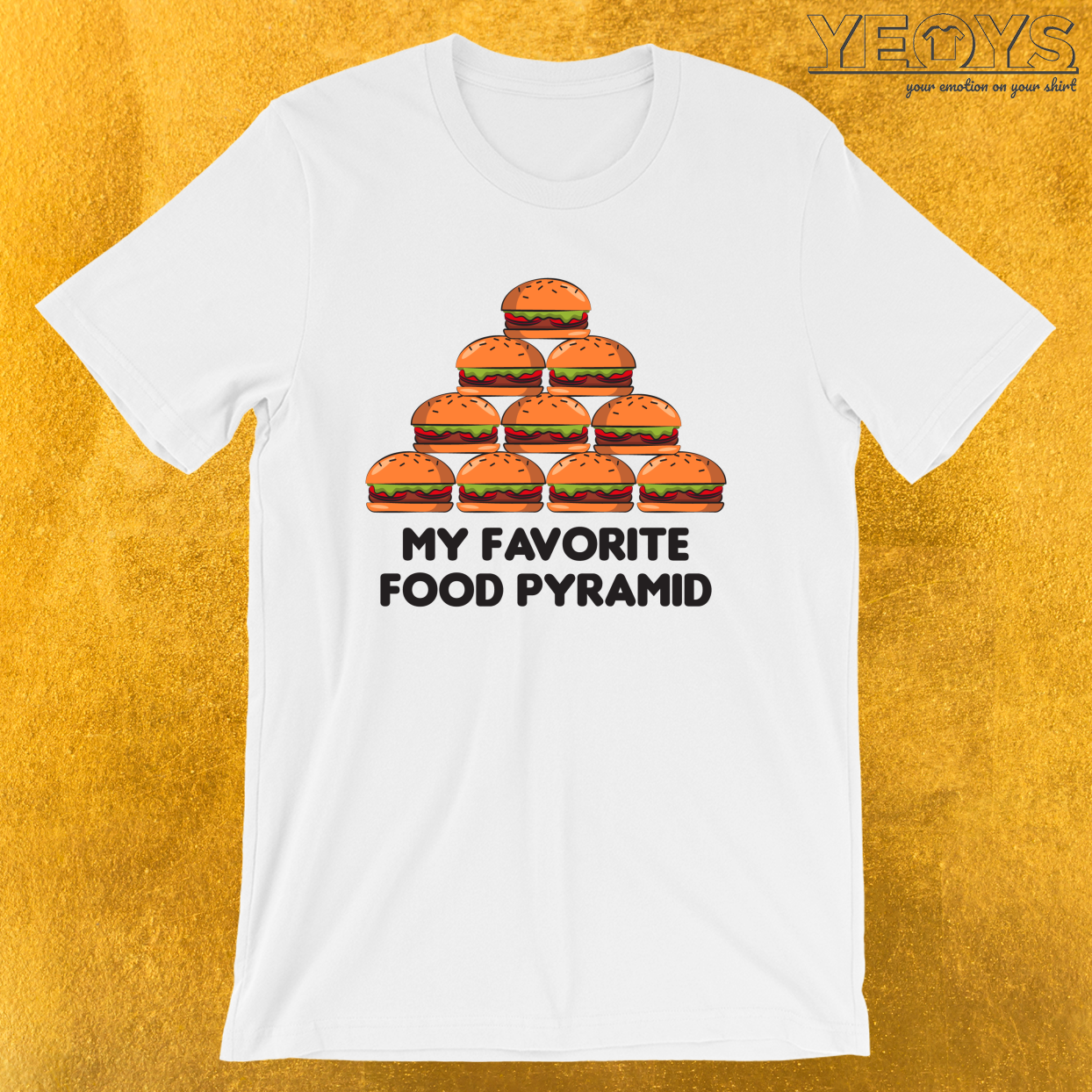 Love Burger – My Favorite Food Pyramid Tee