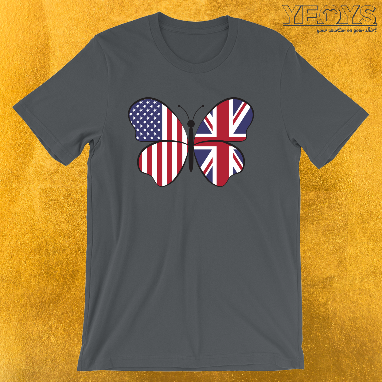 USA United Kingdom Butterfly – Dual Citizenship Tee