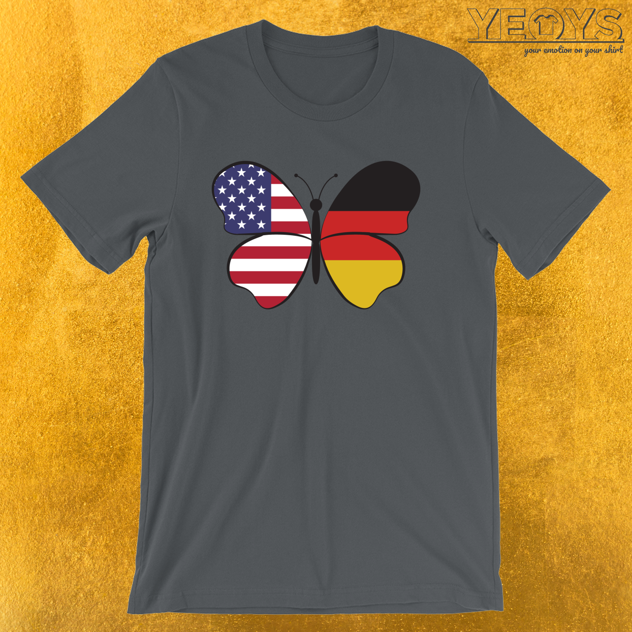 USA Germany Butterfly – Dual Citizenship Tee