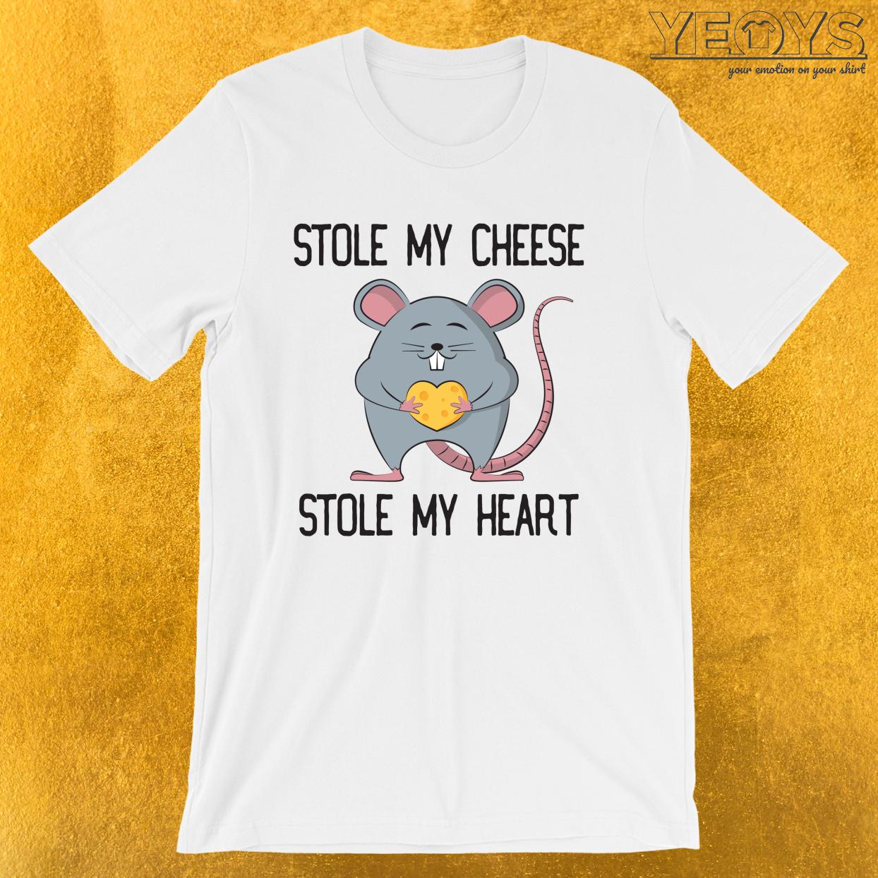 Stole My Cheese Stole My Heart – Rat Mom Tee