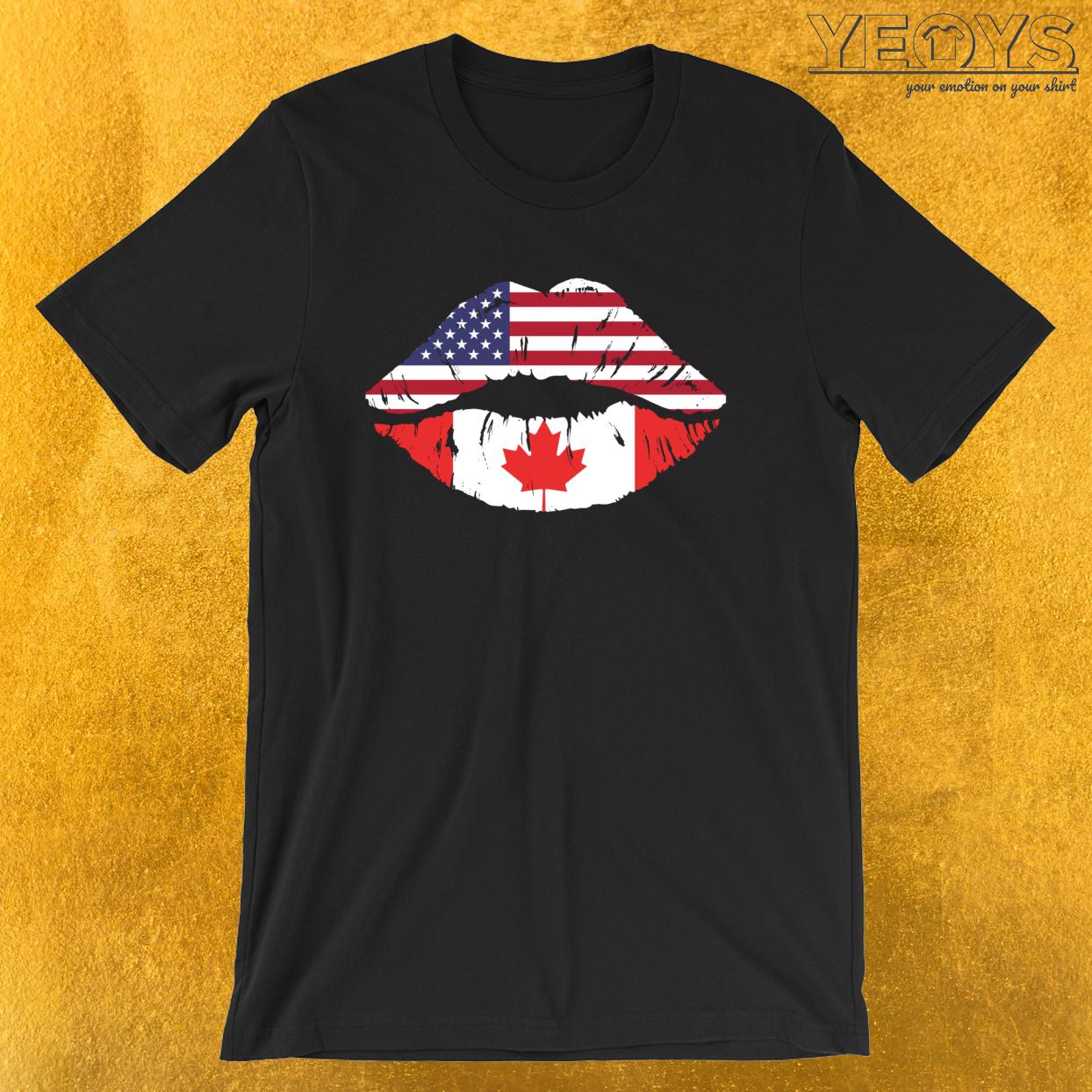 USA Canada Kiss – Dual Citizenship Tee