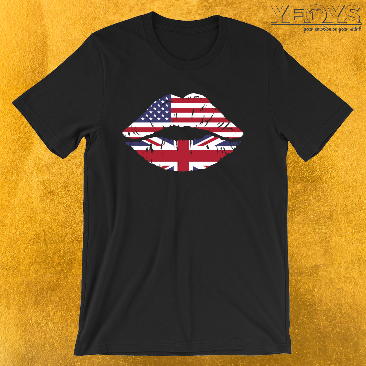 USA United Kingdom Kiss – Dual Citizenship Tee